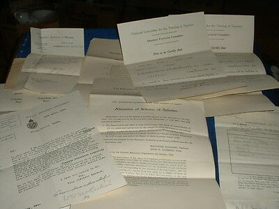 Large Job Lot Of 1920S Education Epherma And Such