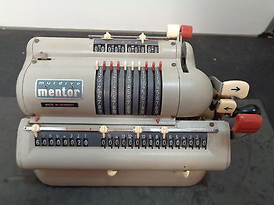"antique ""muldivo"" mentor calculating machine"