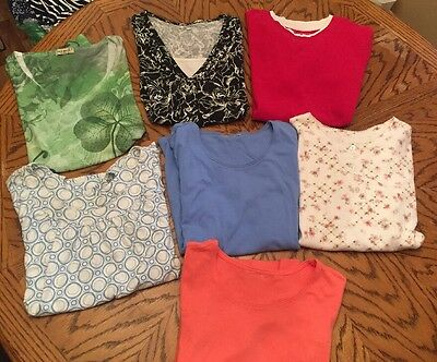 Ladies Lot Of 7 Casual Tops
