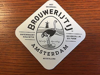 New - Brewery Tij Beer Mat Dutch Lager Sous Bock