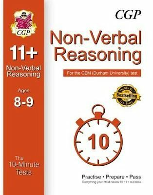 10-Minute Tests for 11+ Non-Verbal Reasoning Ages 8-9 - CEM Test by CGP Books...