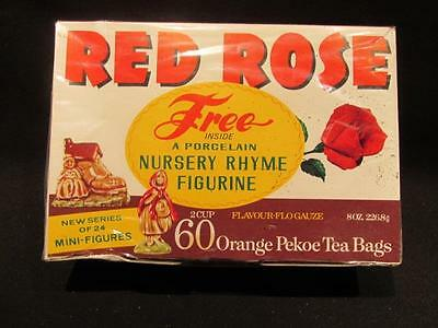 Red Rose Tea Unopened Package 60 Tea Bags (2 Cup) with Wade Fairy Tale Figure