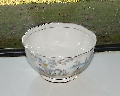 Royal Albert Bone China England 1940s Rosedale Pattern Sugar Bowl