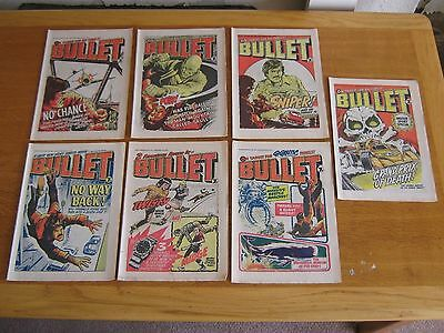 Bullet Comics, 25 Copies From The 1970's