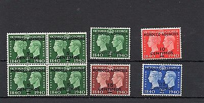 Morocco Agencies (Spanish) George Vi Sg172-175 Stamp Centenary Unmounted Mint