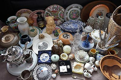 100+  China & Glass Job Lot, Wedgwood Minton Spode Victorian Denby Car Boot