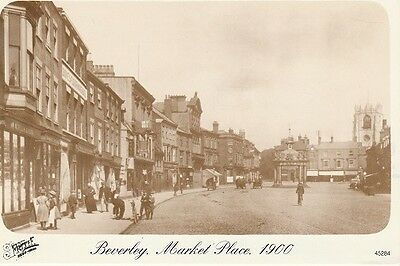 Frith postcards of old Beverley x 2 showing Market Place 1900 & North Bar 1934