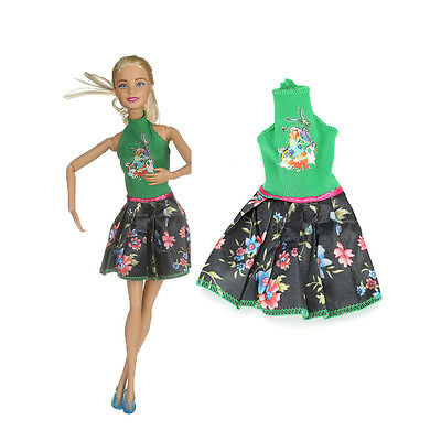 2017 High quality  handmade cool fashion  clothes for Barbie  doll party AB6