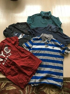 LOT 5 AMERICAN EAGLE POLO AND T-SHIRTS sz MENS SMALL