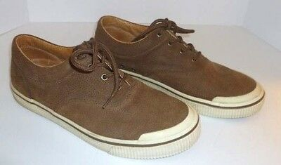 Johnston & Murphy Men's Brown Leather Lace Up Sneakers~Size 9.5~EUC