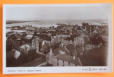 RELIABLE RP Postcard c.1910 FROM ST.MAGNUS TOWER KIRKWALL ORKNEY SCOTLAND