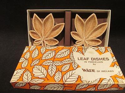 Wade Porcelain Vintage Brown Leaf Dishes New in Box Made in Ireland