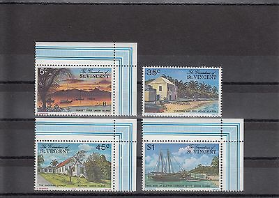 Timbre Stamp 4  Grenadines St Vincent Y&t#73-76 Union Neuf**/mnh-Mint 1976  ~A20