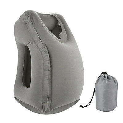 Latest Inflated Pillow Travel Nap Face Pillow Airplane Head Holder Rest Cushion