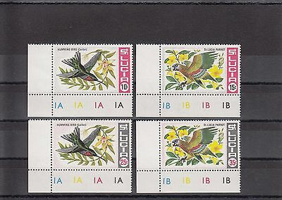 Timbre Stamp  4  Ile St Lucia Y&t#239-42 Oiseau Bird  Neuf**/mnh-Mint 1968  ~A20