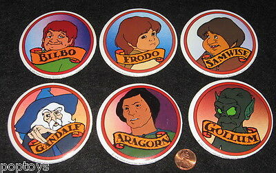 BUTTON SET Lord of the Rings '78 animated movie GOLLUM ARAGORN GANDALF Bakshi