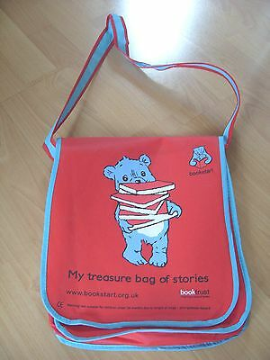 Red Cloth Girls / Boys / Toddler Book Bag With A Strap - 30cms x 25cms