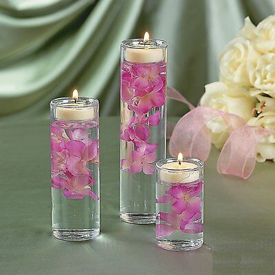 Set of 3 Glass Cylinder Tealight Holder Ceremony Vase Wedding Centerpiece