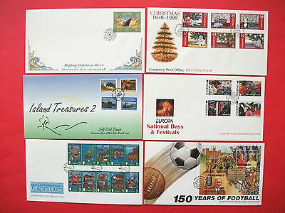 6 x  Guernsey  First Day Covers      1998
