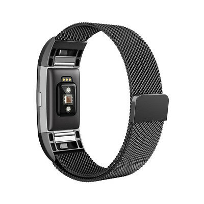 Milanese Loop Metal Magnetic Mesh Band Strap Bracelet for Fitbit Charge 2 TH643