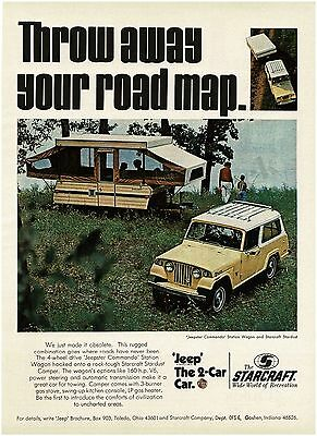 1970 Jeep JEEPSTER COMMANDO Station Wagon STARCRAFT Stardust Camper VTG PRINT AD