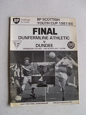 Dunfermline v Dundee 1988 Scottish Youth Cup Final