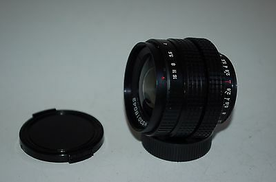 Mir-1B, 2.8/37 mm Soviet Wide Angle SLR Lens. M42 Mount. Both Caps. No.93018043