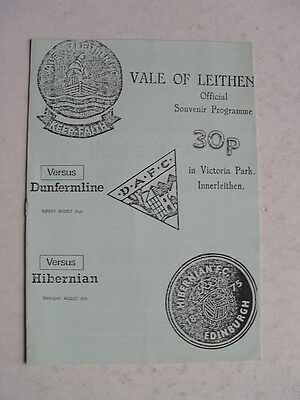 Vale of Leithen v Dunfermline and Hibernian 1987/88 Friendlies