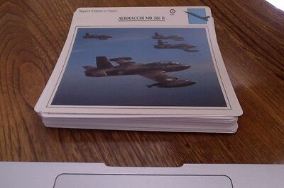 1988-1990 Lot of 50 Diff. Variety Cards of War Aircraft Modern & Old. Lot #11