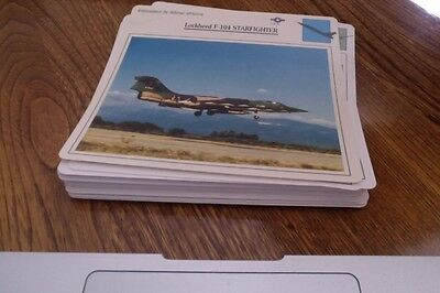 1988-1990 Lot of 50 Diff. Variety Cards of War Aircraft Modern & Old. Lot #6
