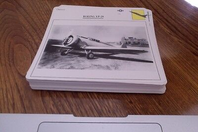 1988-1990 Lot of 50 Diff. Variety Cards of War Aircraft Modern & Old. Lot #3