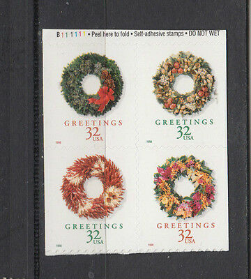 A fantastic mint United States 1998 Reduced Size Christmas Block