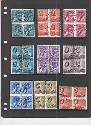 Seychelles Blks of 4  Used - Lot 867