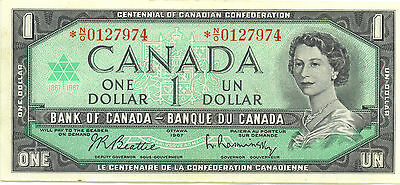 Centennial of Canadian Confederation 1867-1967 $1 One Dollar Replacement Note