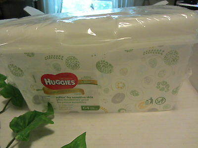 Huggies Baby Wipes Container With Pop-Up Lid Green Springtime Design (Empty) New