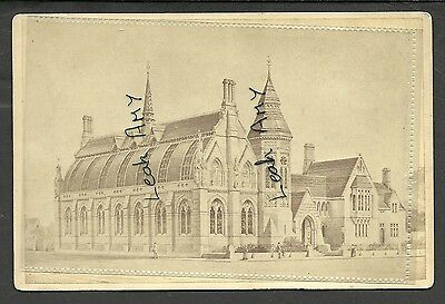 Original Old Cabinet Card Of Unknown Large Building, By Soley, Gloucester.