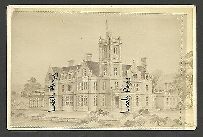 Original Old Cabinet Card Of Unknown Large Building, By Soley, Gloucester...