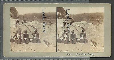 Original Early Stereoview Of Port Soderick, Isle Of Man.