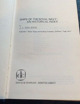 Ships Of The Royal Navy An Historical Index J J Colledge  Volume 1   1969