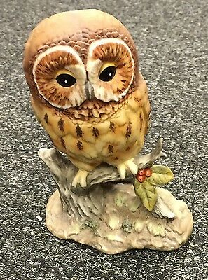 "Royal Osborne Hand Painted Porcelain Owl Figure Approx 5.5"" Tall"