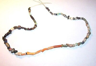 Ancient Egyptian Beaded Necklace of various glass and stone beads