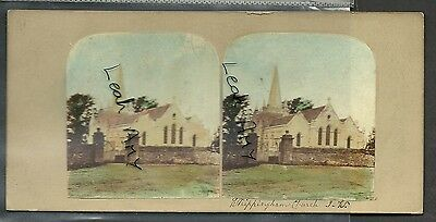 Original Early Stereoview Of Whippingham Church, Isle Of Wight.