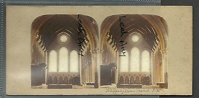 Original Early Stereoview Of Interior Of Whippingham Church, Isle Of Wight.