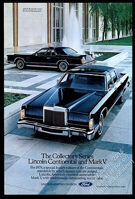 1979 Lincoln Continental Town Car Mark V Collector's Series car photo ad
