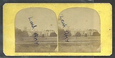 Original Early Stereoview Of Newstead Abbey, Nottinghamshire.