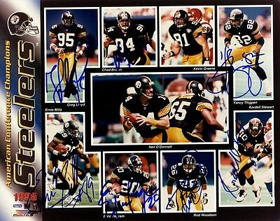 1995 PITTSBURGH STEELERS Signed Photo by Seven Players