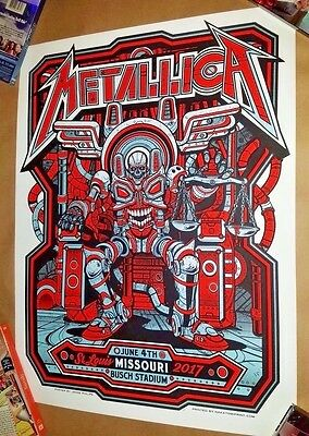 Metallica St. Louis VIP Poster - Busch Stadium Limited AP to 30 - Jesse Phillips
