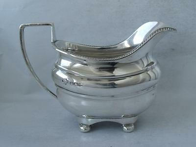Quality Large Solid Sterling Silver Cream Jug 1936/ L 14.2 cm/ 208 g