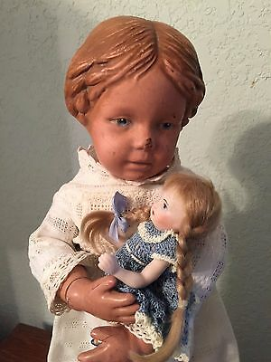 """Schoenhut Doll 16/102 With Carved Braided Hair  16"""""""