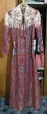 Antique 19Th Century Kashmir Paisley Long  Coat Perfect Condition